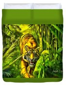Tiger In The Forest Duvet Cover