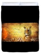 Tiger In The Sun Duvet Cover