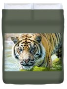 Tiger In The Water Duvet Cover