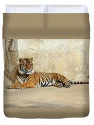 Tiger Resting Duvet Cover