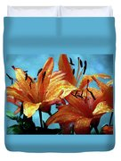 Tiger Lilies After The Rain - Painted Duvet Cover