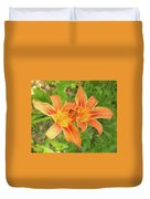 Tiger Lilies Duvet Cover