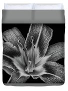 Tiger Lily - Black And White Duvet Cover