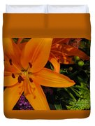 Tiger Lily Bouquet Duvet Cover