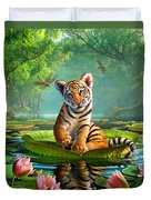 Tiger Lily Duvet Cover by Jerry LoFaro
