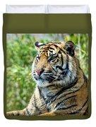 Tiger On Guard Duvet Cover
