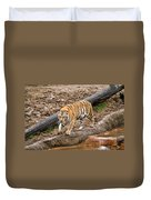 Tiger On The Prowl Duvet Cover
