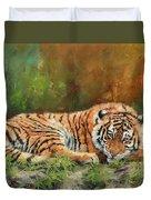 Tiger Repose Duvet Cover