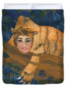 Tiger Sphinx Duvet Cover