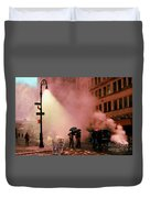 Tiger Suanters The Sloggy Evening Urban Landscape Duvet Cover