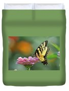 Tiger Swallowtail Butterfly Duvet Cover by Bill Cannon