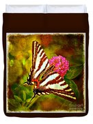 Zebra Swallowtail Butterfly - Digital Paint 3 Duvet Cover