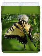 Tiger Swallowtail On Button Bush Duvet Cover