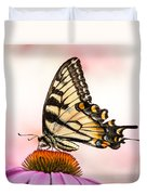 Tiger Swallowtail On Coneflower Duvet Cover
