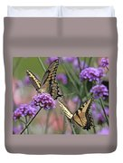 Tiger Swallowtails Duvet Cover