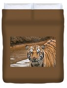 Tiger Wading Stream Duvet Cover