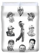 Tiger Woods-murphy Elliott Duvet Cover