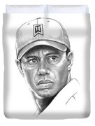 Tiger Woods Duvet Cover