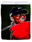 Tiger Woods Duvet Cover by Paul Ward