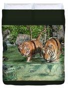 Tiger's Water Park Duvet Cover