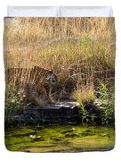 Tigress By The Stream Duvet Cover