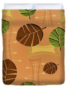Tiki Lounge Wallpaper Pattern Duvet Cover
