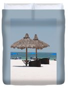 Tiki On The Gulf Duvet Cover