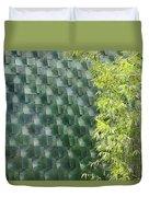 Tile Wall Of The Ringling Museum Asian Art Center Duvet Cover
