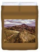 Tilt-shift Mountain Peak Duvet Cover
