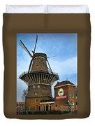Tilting At Windmills In Amsterdam Duvet Cover