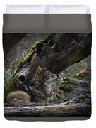 Timber Wolf Duvet Cover