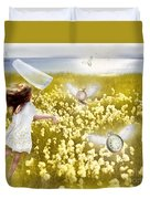 Time Flys When You're Having Fun Duvet Cover