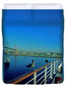 Time For A Cruise Duvet Cover