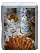 Time For Waffle Duvet Cover