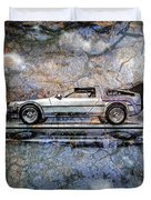 Time Machine Or The Retrofitted Delorean Dmc-12 Duvet Cover