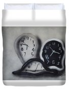 Time Slipping Away Duvet Cover