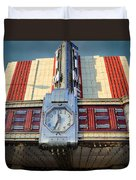 Time Theater Marquee 1938 Duvet Cover