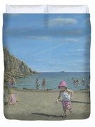 Time To Go Home - Porthgwarra Beach Cornwall Duvet Cover