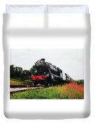 Time Travel By Steam Duvet Cover by Martin Howard