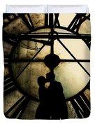 Timeless Love - Golden Brown Duvet Cover