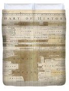 Timeline Map Of The Historic Empires Of The World - Chronographical Map - Historical Map Duvet Cover