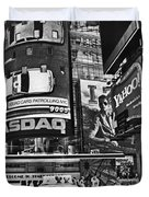 Times Square Black And White Duvet Cover