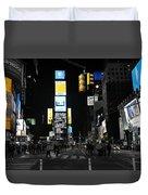 Times Square New York City Big Apple Duvet Cover