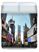 Times Square New York City Duvet Cover