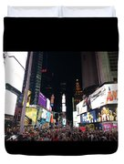 Times Square On A Tuesday. Duvet Cover