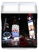 Times Square On News Year Eve Duvet Cover