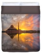 Timeslice A Day To Night Of By The Lake Duvet Cover