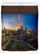 Timeslice Of Day To Night Of Kuala Lumpur City Duvet Cover