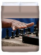 Timing The Chess Move Duvet Cover