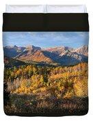Timpanogos Autumn Sunrise Duvet Cover